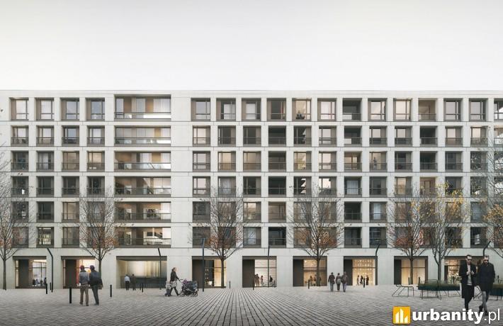 Wizualizacja apartamentowca z projektu Browary Warszawskie