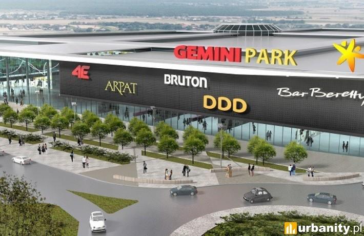 Projekt centrum handlowego Gemini Park w Tychach