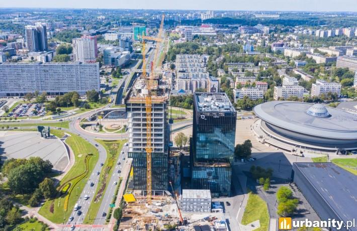 Powstaje II etap kompleksu .JTW (fot. TDJ Estate) wrzesień 2020 r.