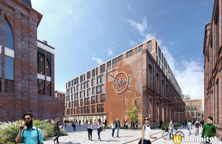 Biurowiec kompleksu Fuzja w Łodzi - wizualizacja