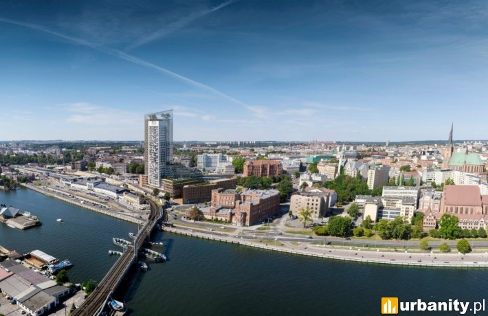 Koncepcja kompleksu wieżowego w Szczecinie