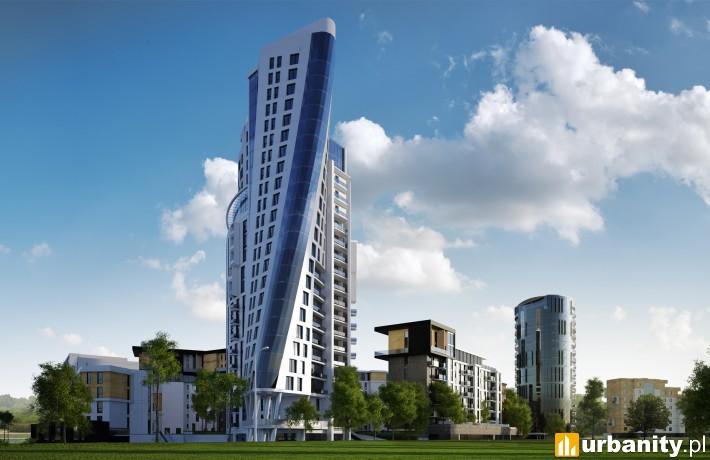 Wizualizacja całego kompleksu Capital Towers w Rzeszowie