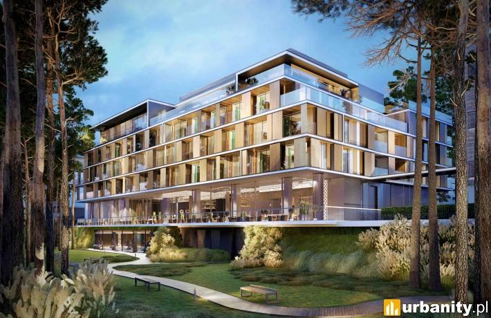 Wizualizacja aparthotelu w kompleksie Gwiazda Morza