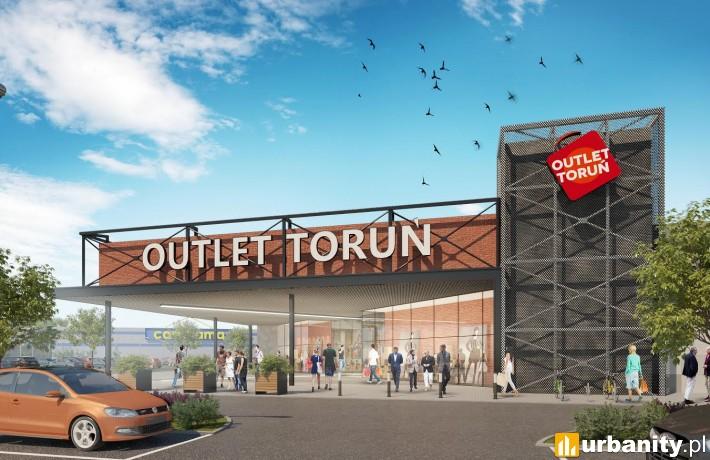 Wizualizacja centrum wyprzedażowego Outlet Toruń