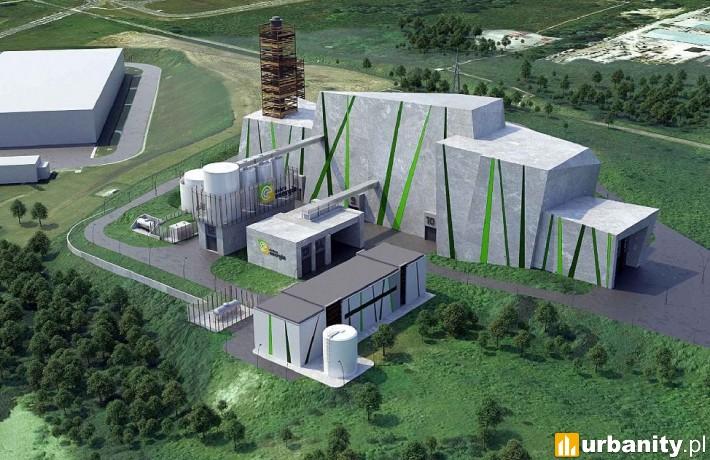 Spalarnia odpadów w Olsztynie - wizualizacja