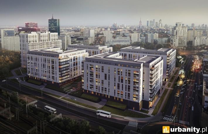 Central Garden Apartments w Warszawie - wizualizacja