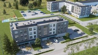 Osiedle we Wrocławiu z lokalną stacją meteorologiczną na dachu