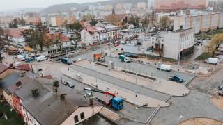 Gdynia Chylonia, Plac Dworcowy, kwiecień 2021