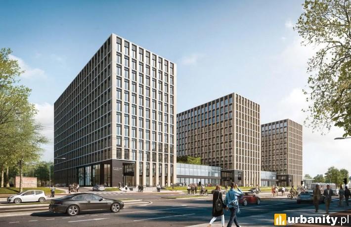 Wizualizacja kompleksu biurowego Podium Park