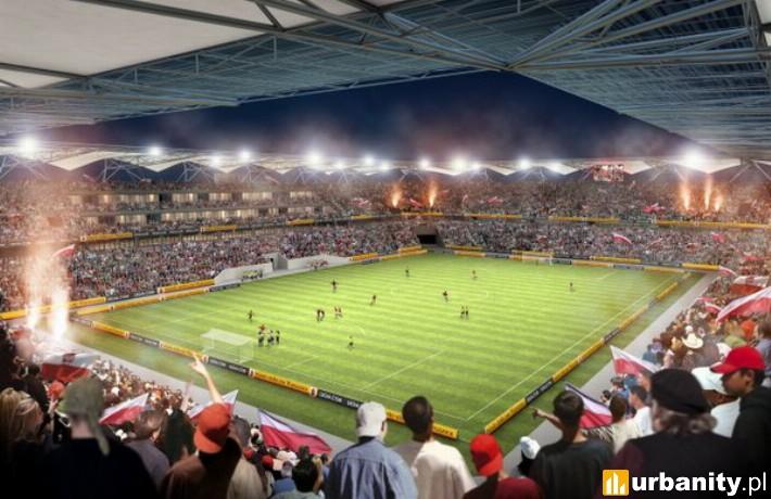 Wizualizacja nowego stadionu Legii