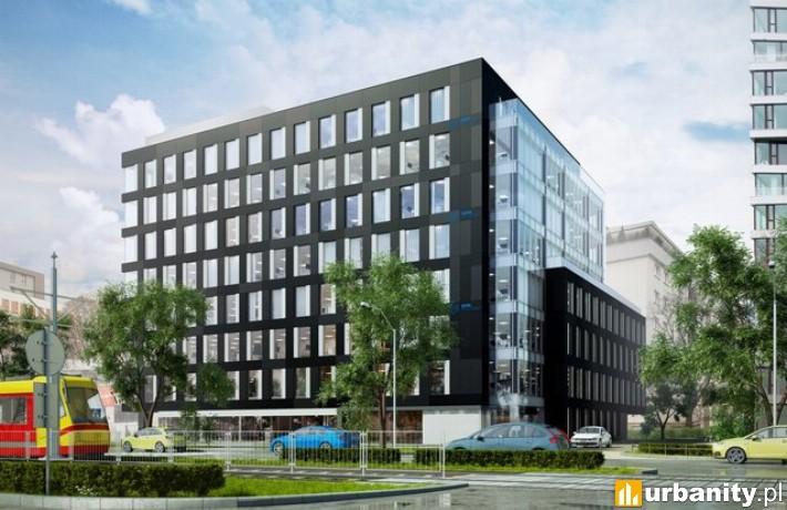 Wizualizacja budynku Grójecka Offices w Warszawie