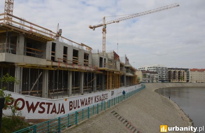 Budowa Bulwarów Książęcych - kwiecień 2017 r.