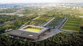 Wizualizacja nowego stadionu i hali w Katowicach
