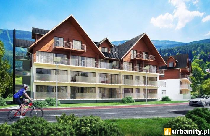 Wizualizacja apartamentowca Triventi Mountain Residence w Karpaczu