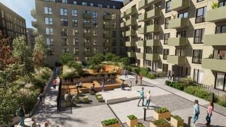 Projekt części mieszkalnej kompleksu Fuzja w Łodzi