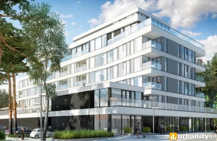 Projekt budynku Dune C w Mielnie