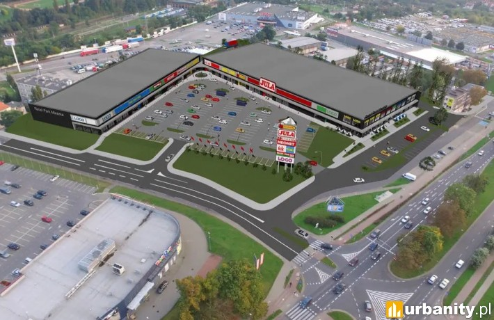 Retail Park Mieszka - wizualizacja