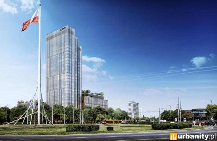 Projekt wieżowca Forest w Warszawie