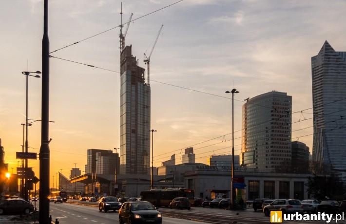 Varso Tower z docelową wysokością 310 metrów (fot. Redzio)