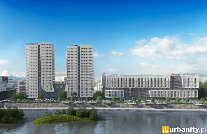 Atal Towers II we Wrocławiu - wizualizacja