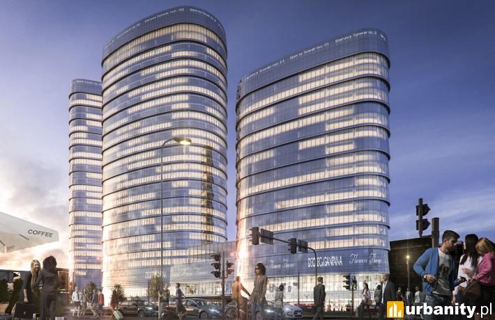 Wizualizacja projektu Sienna Towers w Warszawie