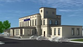 Dworzec w Bolesławcu - wizualizacja - widok ogólny