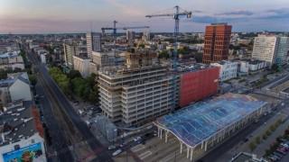 Tak wygląda poziom zaawansowania budowy Hi Piotrkowska 155 w Łodzi - wrzesień 2019