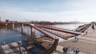 Most pieszo-rowerowy na Pragę