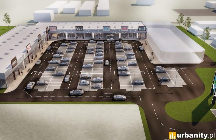 Wizualizacja parku handlowego w Rawiczu
