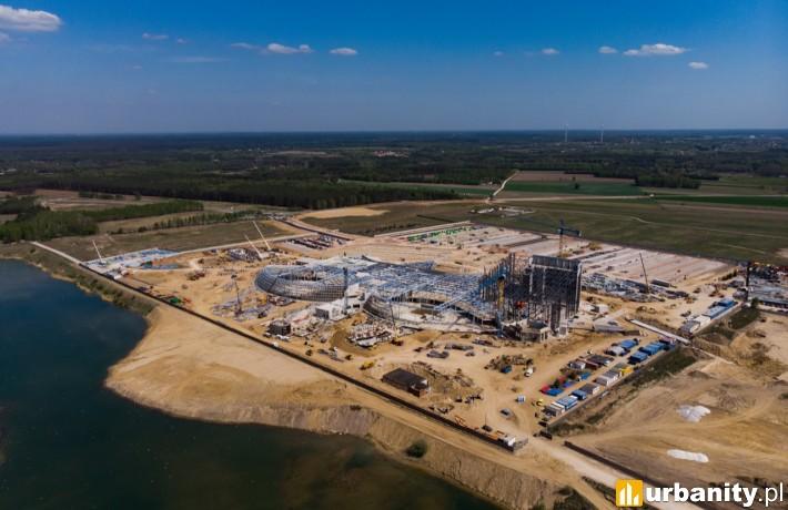 Tak obecnie wygląda budowa Suntago Wodny Świat (maj 2019 r. fot. parkofpoland.com)