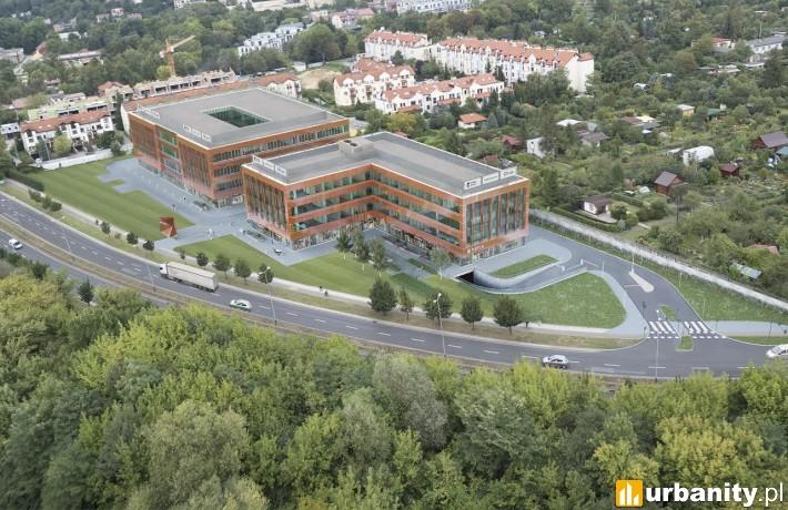 Cały kompleks Porto Office w Krakowie - wizualizacja