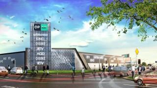 Projekt galerii handlowej Quick Park w Oławie