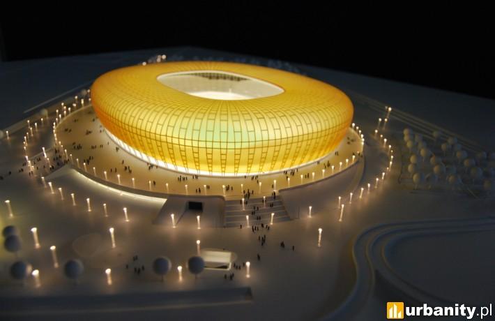 Stadion piłkarski w Gdańsku - makieta