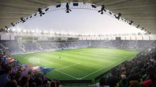 Wizualizacja nowego stadionu piłkarskiego w Płocku