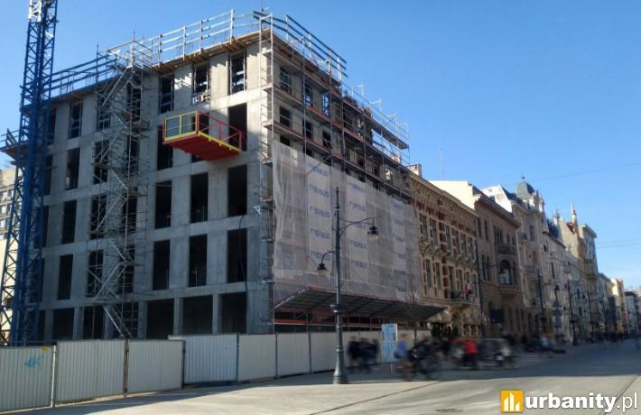 Tak wygląda budowa kompleksu Hi Piotrkowska w marcu 2019 r.