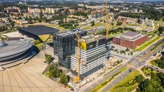 Postęp prac na budowie kompleksu .KTW w Katowicach
