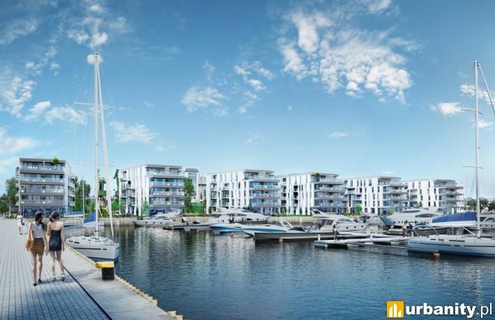 Wizualizacja projektu Yacht Park w Gdyni