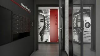 Wnętrza budynku na osiedlu Fotoplastykon