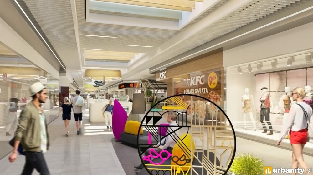Nowe wnętrza centrum handlowego Auchan Produkcyjna