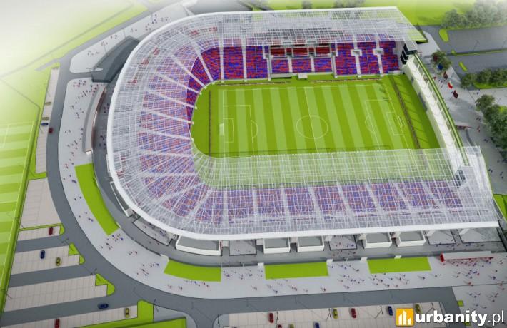 Koncepcja stadionu z trzema trybunami