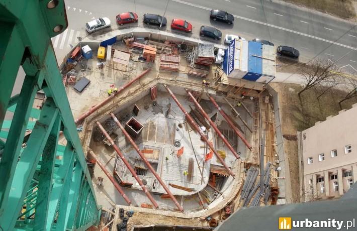 Postęp prac na budowie przy Woronicza 34 w Warszawie