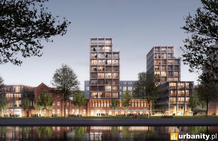 Wizualizacja kompleksu Nowy Port w Bydgoszczy