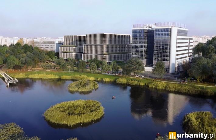 Wizualizacja kompleksu Lakeside w Warszawie