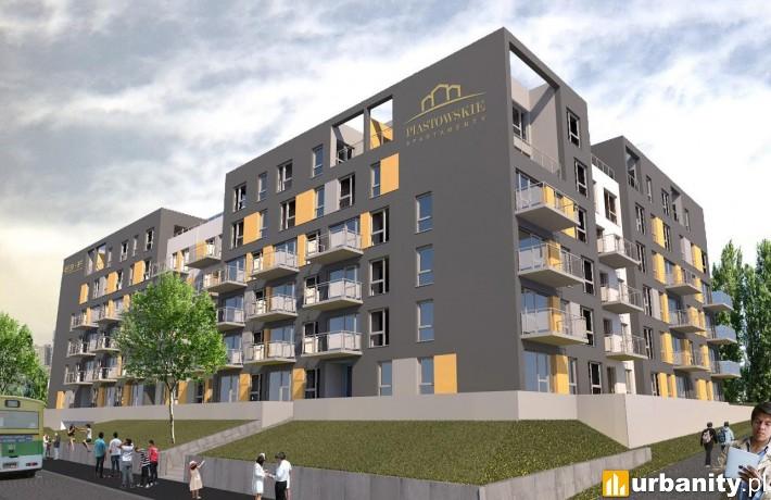 Projekt budynku Piastowskie Apartamenty w Zielonej Górze