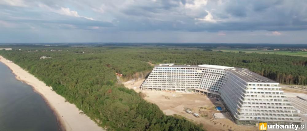 Kończy się budowa hotelu w Pobierowie na 2 500 wczasowiczów. Największy w Polsce