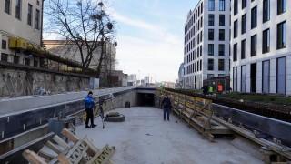 Postęp prac na budowie podziemnej drogi w NCŁ (Fot. Konrad Ciężki / UMŁ)