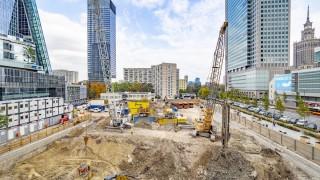 Postęp prac na budowie wieżowca Skysawa (październik 2019 r)
