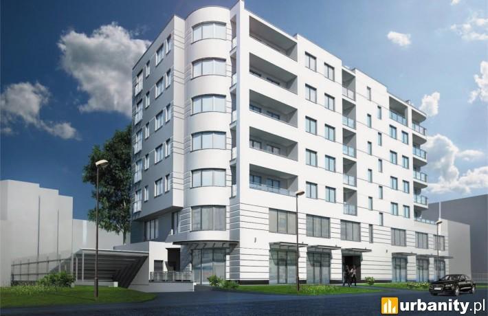 Wizualizacja budynku przy Terespolskiej 17 w Warszawie