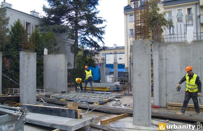 Postęp prac na budowie przy Lubartowskiej 20