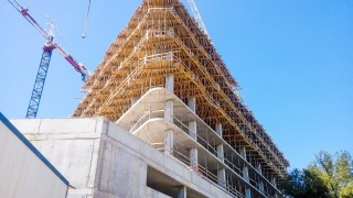 Postęp prac na budowie Carbon Tower we Wrocławiu